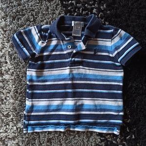 Ralph Lauren Blue stripes Polo T-shirt